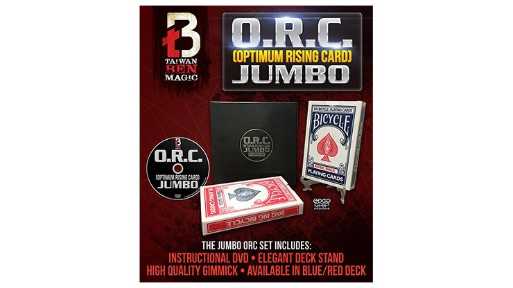 O.R.C.(Optimum Rising Card) Jumbo Red by Taiwan Ben - Trick
