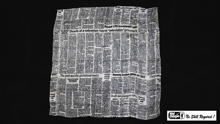 Production Hanky Newspaper...