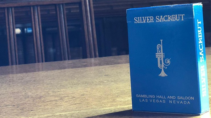 Limited Edition Silver Sackbut Playing Cards V2 (Cyan)