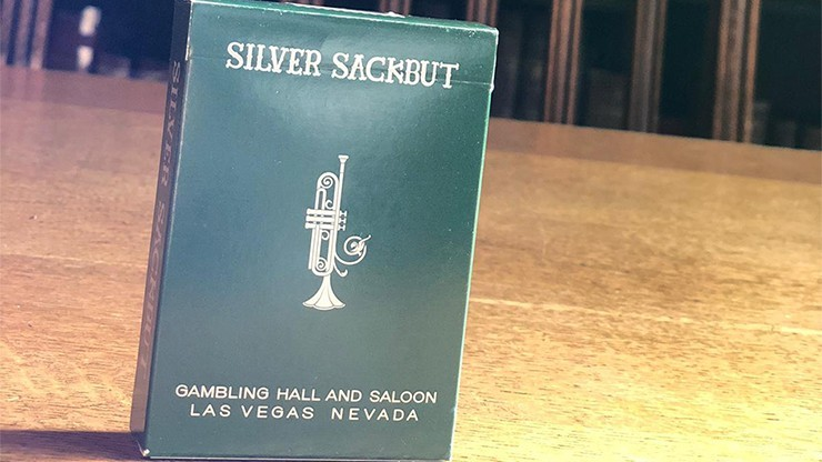 Limited Edition Silver Sackbut Playing Cards V2 (Emerald)