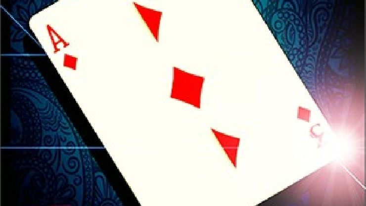 SPLIT-CARD (Red) by Mickael Chatelain  - Trick