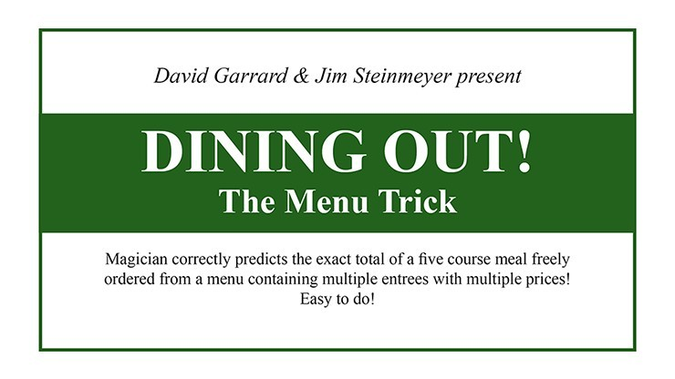 Dining Out! The Menu Trick...